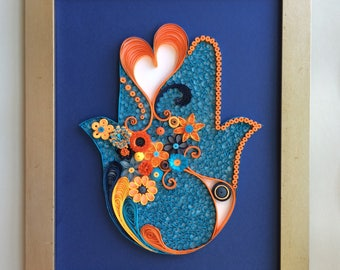 UF Themed Quilled Hamsa