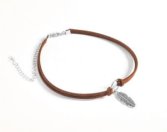Brown Feather Choker