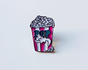 Sale | Popcorn | Cinema | Snack | Pin | Badge | Retro | Hipster | Upcycle | Accesory | Modify