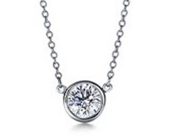 Platinum TIFFANY & CO Diamond Solitaire Pendant and with Free Shipping!!!