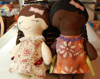 Darling Dress-Up Doll // Cloth Doll - Girl // doll variations // gift // stuffed doll // baby doll dress up //