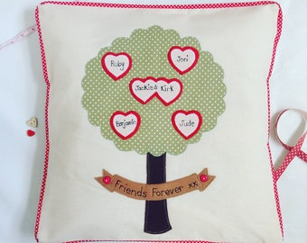 Family Tree Stitched Cushion