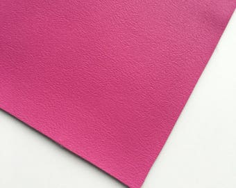 Magenta Smooth Vegan Faux Leather