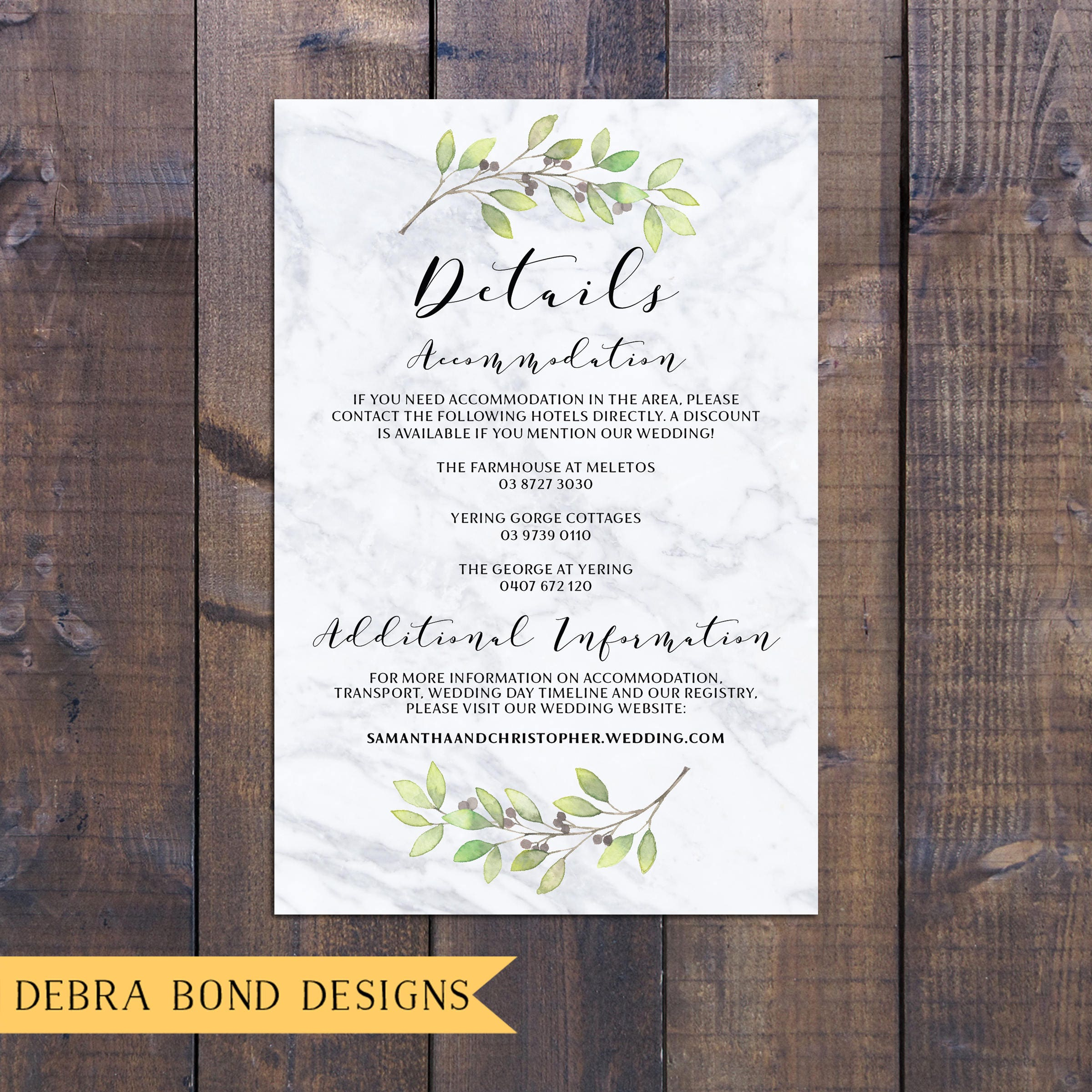 Wedding suite, wedding invitation, botanic invitation, marble ...