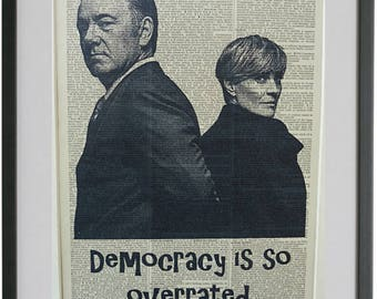 House Of Cards Print No 446 Kevin Spacey Frank Underwood House Of