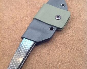 Kwaiken Knife with Green C-Tek Scales