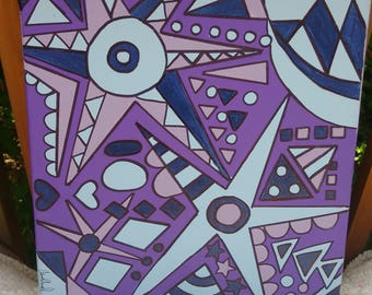 Purple Stars - Original Painting