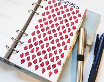 80010 periods Tracker sticker for Filofaxing, kawaii, Planner, stationary, cute, blood, drops