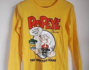 CLEARANCE SALE 35% Vintage Popeye The Sailor Man Cartoon T-Shirt Small