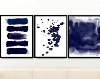 Dark blue wall decor navy blue wall on wall decor for dining room area contemporary with