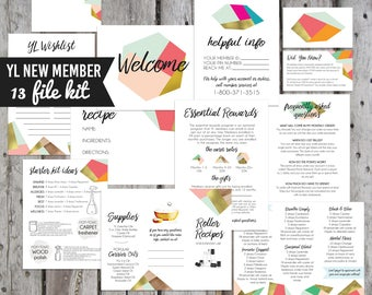 13 File Printable New Member Kits, YL Welcome Kits Printable, New Member Kits, New Member Oil Resources, Young Living, Oil Accessories