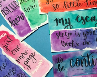 Watercolor bookmarks