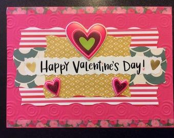 "Valentine - ""Happy Valentine's Day"", Homemade Valentine Card"