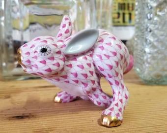 Herend Fleeing Rabbit Figurine