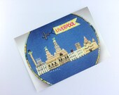 "Liverpool Waterfront // Postcard Print // From Original Embroidery // 6""x4"""