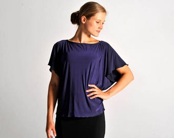 NEW** MARIA tunic top in navy blue - sizes XS/S/M