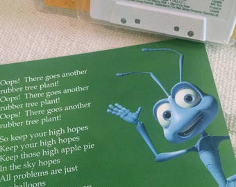 A Bug's Life Sing-a-Long Cassette Tape Blister Pack