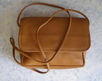 Purse/bag/shoulder bag Vintage 80s Eighties s/fashion / antiquityfrench / door shoulder/purse in leather Camel/Bohemian/Hippie bag