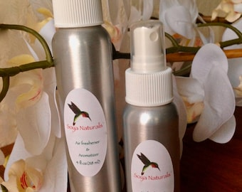 SWEET VANILLA Air freshener & linen Spray with essential oils, NO synthetic preservatives, no synthetic fragrances. Room spray.