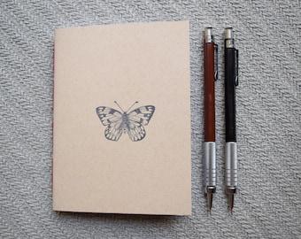 Small butterfly notebook kraft journal