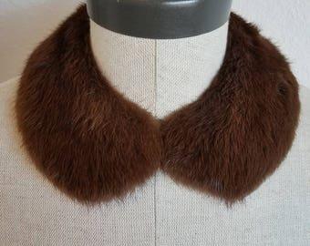 Vintage Brown Fur Collar