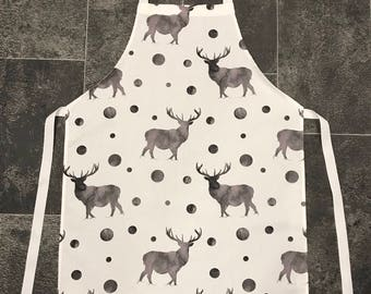 Stag Apron - Apron - Kitchen linen - gift idea - baker gift - stag print
