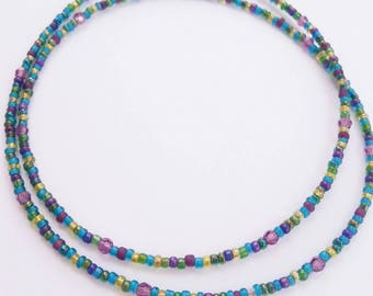 Seed bead choker, choker necklace, seed bead necklace, small beaded choker, turqoise jewelry, turqoise necklace, seed bead jewelry, turqoise