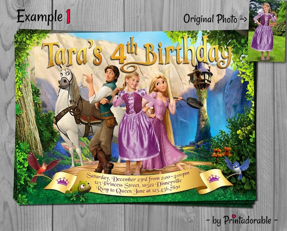 Tangled Invitation - Rapunzel Invite - Tangled The Series Birthday Party with Flynn, Maximus and Pascal - Fully Customizable Digital Invite
