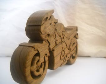 Wooden Motorcycle Puzzle Sport Edition