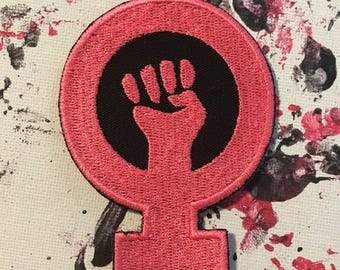 Girl power patch, resist patch, feminism patch, feminist patch, equality patch, pink patch, feminist symbol, gift under 10, gift for her