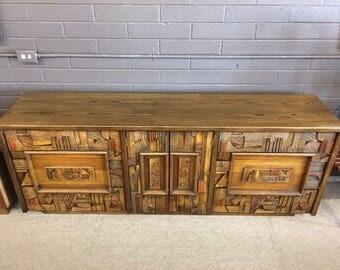 Lane Brutalist Nine Drawer Dresser