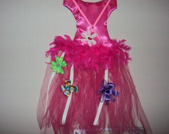 Hot Pink Tutu Hair Bow Holder 149