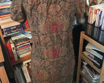 1960's Paisley Boat Necked Day Dress