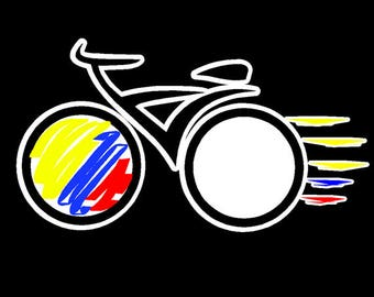 Colombian Bicycle | Ciclismo | Bicicleta Car sticker