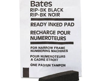 Bates Ready-Inked Black Pad for Multiple/Lever Movement Numbering Machine - One Pad