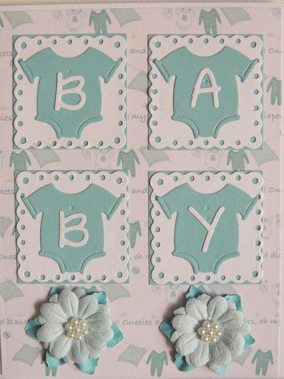 baby shower cardonesie baby cardhandmade baby cardboygirl