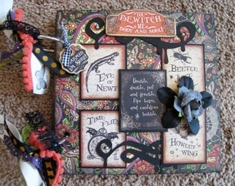 Graphic 45 Spell Book - Chipboard - Mini Album - Halloween - All Hallow's Eve - Photos - Spells - Recipes - Rare Oddities - Steampunk Spells