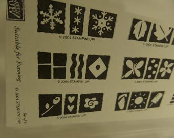 """2004 STAMPIN'UP! """"Suitable for a Frame"""" Set of 9!"""