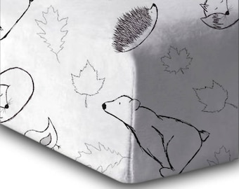 Crib Sheet Woodland Babies. Baby Bedding. Fitted Crib Sheet. Crib Bedding. Animal Crib Sheet. Crib Sheet Woodland. Gender Neutral Crib Sheet