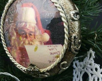 Vintage /Shabby Chic/Christmas Ornament / Decoration / Bauble/ Handmade