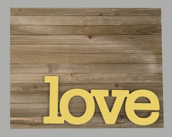Love Sign, Love Sign Home Decor, Love Sign Pop Out, Laser Cut Wood, Wood Sign, Love Quote, Wedding Idea, Wedding Decor, Wedding Gift