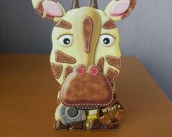 Giraffe Card, Birthday Card, Box Card, Greeting Card, Handmade, Card, Just To Say, 3D Card