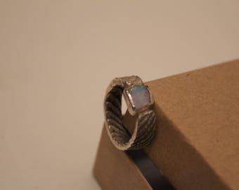 Opal Cuttlefish Silver Ring