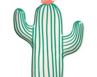 Plates | Meri Meri Cactus Plates | Cactus Party Supplies | Cactus Party Decor | Pack of 12 | Southwest | Fiesta | Paper | The Party Darling