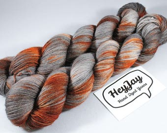 Hand Dyed Sock Yarn Superwash Merino - Rustbucket