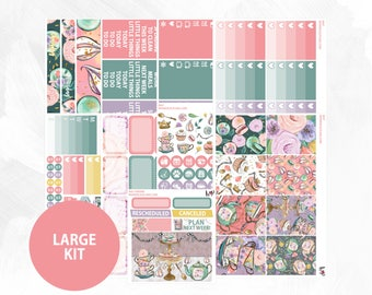 May Large Kit | Full Boxes Checklists Functional Boxes Headers Sidebar Extras Washi | Matte Glossy Planner Stickers