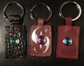 Leather Keychain (Jeweled)