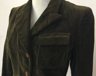 True vintage cord fitted 1940s jacket