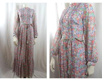 70's Floaty Maxi Dress
