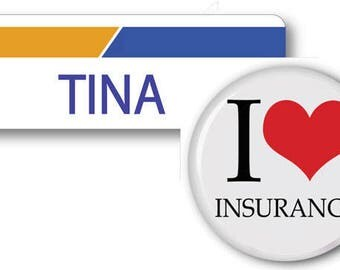 TINA From Progressive Insurance Halloween Costume Name Badge Tag pin Fastener & Button Ships ASAP FREE